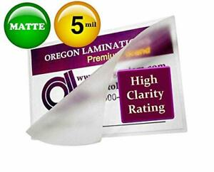 Oregon Lamination Hot Laminating Pouches Legal pack Of 100 5 Mil 9 X 14 1 2 in