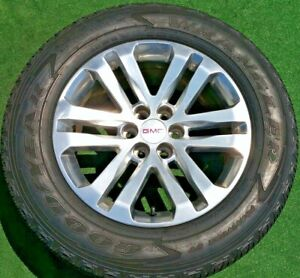 4 Genuine Gm Oem Factory Gmc Canyon Polished Finish 18 Inch 6x120 Wheels Tires