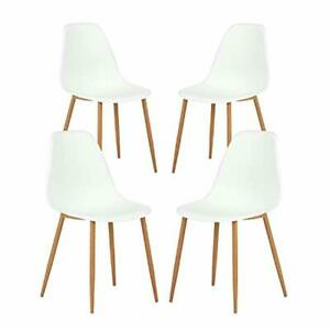 Greenforest Dining Chairs Set Of 4 Mid Century Modern Plastic Seat And Back Kit