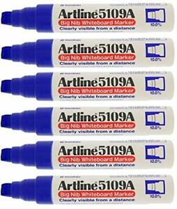 Artline 5109a Big Nib Whiteboard Marker Blue pack Of 6