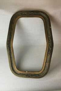 Vintage Gold Gilt Wood Plaster Gesso Oblong Picture Frame Only Ornate Design