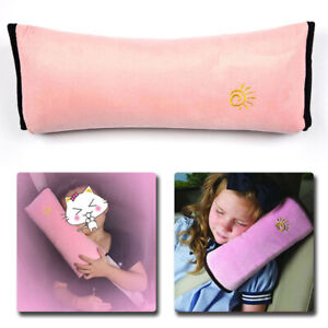 Pink Car Kids Safety Strap Cover Harness Pillow Shoulder Seat Belt Pad Cushion