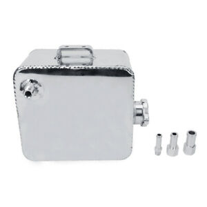 2 5 Coolant Water Expansion Tank Bottle Header Aluminium Universal Kit Silver