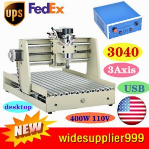 Usb 3axis Cnc 3040 Router Engraving Engraver Machine 3d Cutting 400w Wood Carver