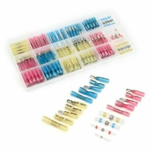Seal Cable Wire Terminals Solder Sleeve Assorted Butt Heat Shrink Connectors Kit