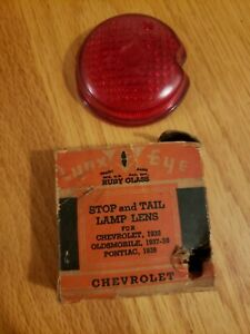 Vintage Antique 1939 Chevy Lynx Eye Tail Light Stop Lamp Lens Pontiac Oldsmobile