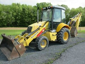2008 New Holland B95 Tractor Loader Backhoe 4x4 Cab Ac Ext Hoe 2134 Hours