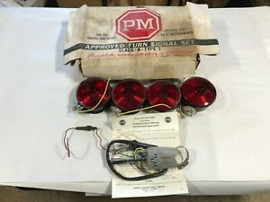 Vintage 1930s 1940s Peterson Class a type 1 Complete Turn Signal Set 30s 40s