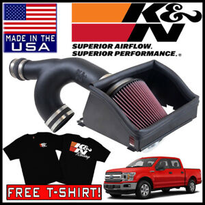 K n Aircharger Cold Air Intake System Kit Fits 2015 2019 Ford F 150 2 7l V6