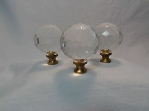 3 Piece Glass Resin Drawer Pulls