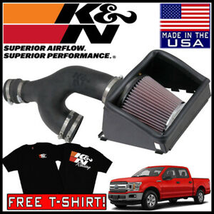 K n Aircharger Cold Air Intake System Kit Fits 2017 2019 Ford F 150 3 5l V6