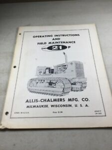 Allis Chalmers Hd21p Crawler Operators Maintenance Manual