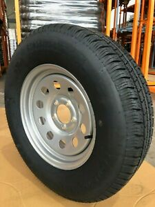 New St205 75r15 8pr Supercargo 15x5 5 4 5 Silver Mod Trailer Tire Assembly