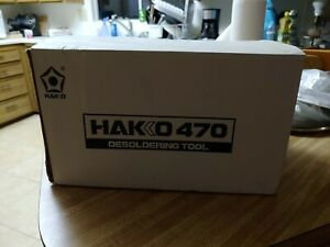 Hakko 470 Desoldering Tool station Terrific Condition Low Use In Box