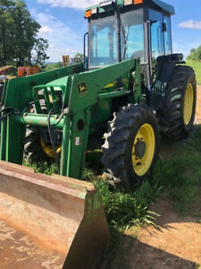 2002 John Deere 5510 4x4 Utility Tractor W Cab A c Loader Clean Tractor