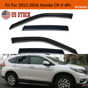 For 2012 2016 Honda Cr v Crv Smoke Window Visors Sun Rain Wind Guards Vent Shade