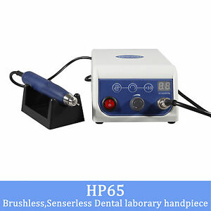 Dental Lab Micromotor 50k Rpm Marathon Brushless Polishing With 2 Handpieces