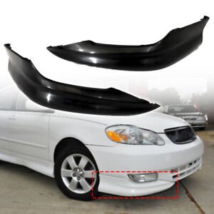 Fits For 2003 2004 Toyota Corolla Front Bumper Lips Pair Set Left Right