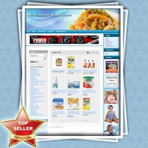 Gourmet Food Store Fully Automated Turnkey Website For Sales Make Money Online