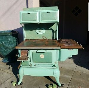 Cribben Sexton Universal Antique Stove Oven Green Gas Coal Wood Cabin Decor