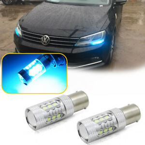 Can Bus Ice Blue Led Drl Bulbs For 2011 2017 Vw Jetta Mk6 Daytime Running Lights