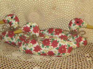 3 Ducks Floral Fabric Christmas Bowl Fillers Country Kitchen Home Decor