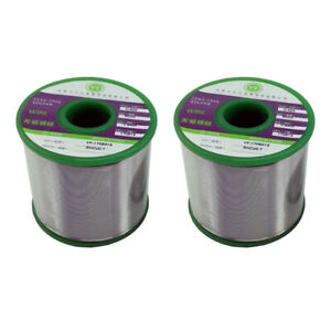 2pc Lead Free Solder Wire With Rosin Core For Electronic Soldering 0 8 1 0mm