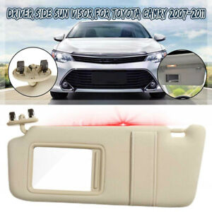 Sun Visor Left Driver Side Tan Beige For 07 2011 Toyota Camry Without Sunroof