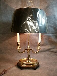 Hollywood Regency Heyward House Brass Candelabra Table Lamp