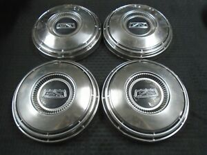 Ford Dog Dish Hubcaps Wheelcovers Mustang Galaxie 500 Fairlane 428 429 Police