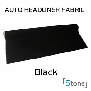 Replace Sagging Auto Headliner Upholstery Fabric With Foam Backing Black 85 x60