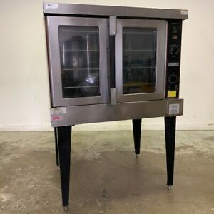 Used Hobart Hec5 Single Electric Convection Oven On Stand 4 Racks
