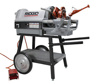 Ridgid 1224 Pipe Threading Machine With 711 714 150a Cart 26092 reconditioned