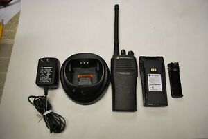 Motorola Cp200 Vhf 4 Ch Two Way Radio charger used Battery antenna
