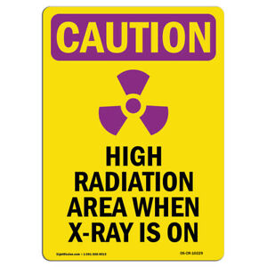 Osha Caution Radiation Sign High Radiation Area With Symbol made In The Usa