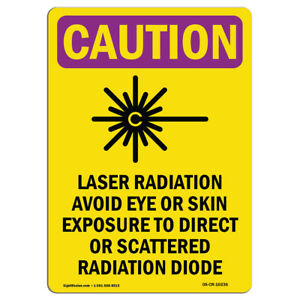 Osha Caution Radiation Sign Laser Radiation Avoid With Symbol made In The Usa