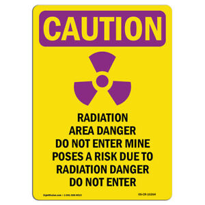 Osha Caution Radiation Sign Radiation Radiation With Symbol made In The Usa