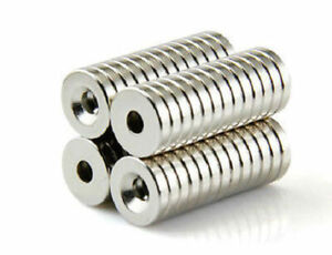 20 200 Strong Countersunk Ring Magnets 12 X 3mm Rare Earth Neodymium 3mm Hole