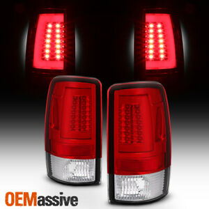 Fits 2000 2006 Chevy Suburban Tahoe Gmc Xl Led Light Bar Tail Lights Red Clear