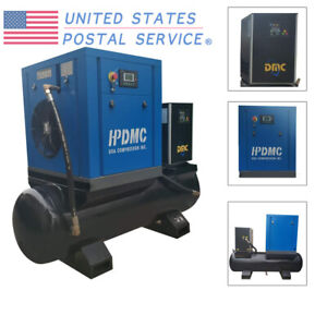 Rotary Type Screw Air Compressor 10hp 230v With 80 Gallon Tank air Dryer Hpdmc