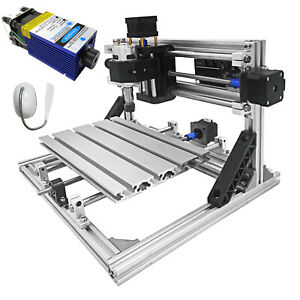 3 Axis Cnc Router Kit 2418 500mw Tools T8 Screw With Laser Engraver For Wood
