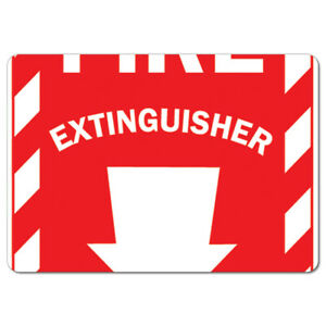 Osha Aluminum Sign Fire Extinguisher With Arrow made In The Usa