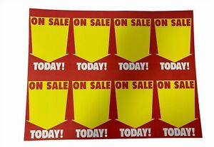 Merrill 8 up on Sale Today red yellow Non adhesive Labels Case Of 1000