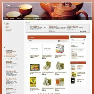 Established Tea Online Store High Potential Affiliate Business Website For Sale