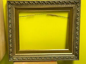 Vintage Ornate Aesthetic Movement Gold Gilt Wooden Gesso Picture Frame 11 X 14