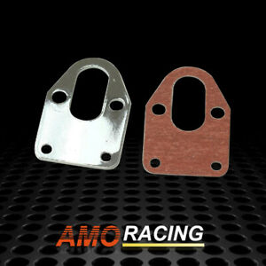 Chrome Fuel Pump Mounting Plate Fit For Sbc 283 305 327 350 383 400 Sb Chevy Us