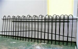 2 Antique Heavy Thick Wrought Iron Fence Panel Garden Architectural Collectibles