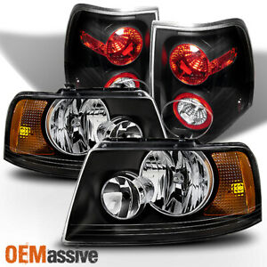 Fit 2003 2004 2005 2006 Ford Expedition Black Headlights Tail Lights Replacement