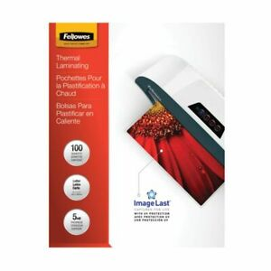 Fellowes Imagelast Laminating Pouches Uv Protection 9 X 11 1 2 5 Mil Glos