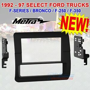 Double Din Install Kit For 1992 97 Ford F series Trucks Bronco F 250 F 350